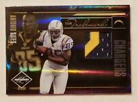2010 Limited ANTONIO GATES Trademarks Patch Serial #21/50 San Diego Chargers HOF