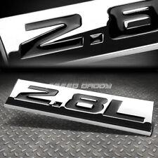 METAL EMBLEM CAR BUMPER TRUNK FENDER DECAL LOGO BADGE CHROME BLACK 2.8L 2.8 L