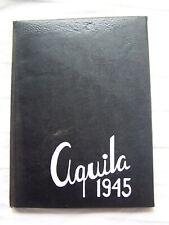 1945 GENEVA HIGH SCHOOL YEARBOOK GENEVA, OHIO  AQUILA   UNMARKED!