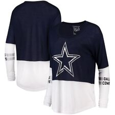 a9ccb283d DALLAS COWBOYS WOMEN S NAVY L S AUDREY TWO TONE SHIRT 2XL