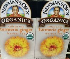 Organic Newman's Own Tumeric Ginger Tea 4/20 Count. Temp. Out of stock
