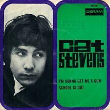 """7"""" Cat Stevens – I'm Gonna Get Me A Gun / Center Intact // Dutch 1967"""