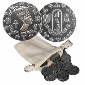 50 - 1/10 oz. 999 Fine Silver Rounds -  Egyptian Queen Nefertiti - IN STOCK
