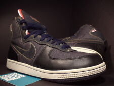 Nike Dunk TERMINATOR HI PREMIUM DENIM NAVY BLUE BLACK RED WHITE 307893-441 7.5