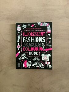 Fluorescent Fashions Drawing & Colouring Book New