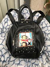 2014 PAUL FRANK Backpack. Black  Zipper-RARE!! Monkey Change Purse To Handbag