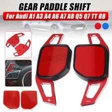 Paire Rouge Extension palette au volant pour Audi A1 A3 A4 A6 A7 A8 Q5 Q7 TT R8