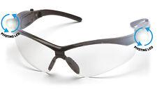 Pyramex PMXTREME LED Glasses SB6310SPLED Clear Lens w/ Black Frame