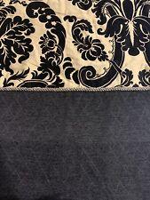 Springmaid Curtain Panel 50�x 84� Black Taupe