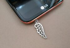 Angel Wing cell phone Charm Anti Dust proof Plug ear cap jack For 3.5mm