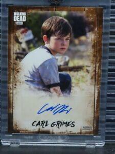 2018 Topps AMC The Walking Dead Carl Grimes Auto Autograph #12/25 Z156