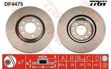 TRW Juego de 2 discos freno Antes 305mm ventilado FIAT CROMA DF4475