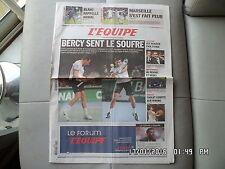 L'EQUIPE DU 11/10/2010 TENNIS BERCY Michael Llodra Djokovic OM Marseille J21