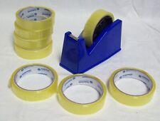 Jumbo Desktop Heavy Duty Sellotape Tape Dispenser Holder With 8 Rolls Clear Tape