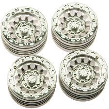 "4Pcs Aluminum 1.9"" Beadlock Wheel Rims Set For RC D90 SCX10 CC01 crawler car#10"