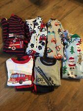 Boys Size 18 Months Fall / Winter Pajamas~Lot Of 8~Firetrucks~Baby Gap,Little Me