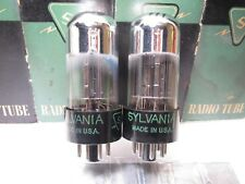 SYLVANIA 6SN7 GTA  NOS  TALL GLASS Balanced Gm & Ip PLATINUM MATCHED PAIR