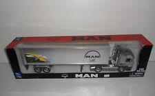 NEW RAY MAN Truck & Trailer Dealer Promo 1:32 Diecast Model LongHauler - Boxed