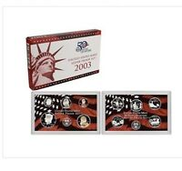 2003 UNITED STATES SILVER MINT PROOF SET with STATE QUARTERS, MINT BOX & COA