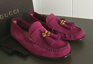 GUCCI SUEDE QUEEN MOCCASINS, SIZE IT 39.5, US 9.5, BRAND NEW IN BOX!
