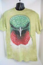 The Mountain Hummingbird Bird Face Head Green T-Shirt Large Cute Funny