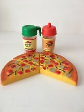 Vintage Pizza Hut Play Food 4 slices of Pizza Red Pepper & Parmesan Shaker