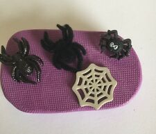 Halloween Spiders And Web silicone mould (cupcake.topper.party.scary.baking