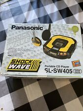 Panasonic SL-SW405 Yellow Shockwave Portable CD Player NEW NEVER USED