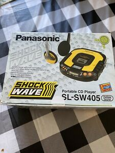 Panasonic SL-SW405 Yellow Shockwave Portable CD Player NEW NEVER USED