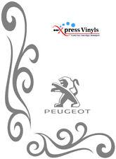 Peugeot van decals x 2. van window stickers graphics