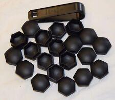 GENUINE NISSAN QASHQAI JUKE NOTE WHEEL NUT BOLT COVERS CAPS TOOL 17mm BLACK x20