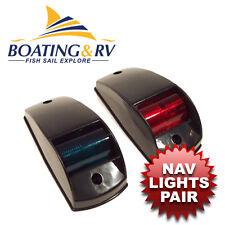 Navigation Lights traditional Port/starboard Black housing - Boat Nav Lights