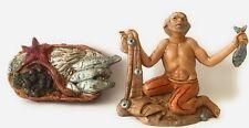 Fisherman Villager Figurine Nativity Scene Presepio Figura Pesebres Nacimientos