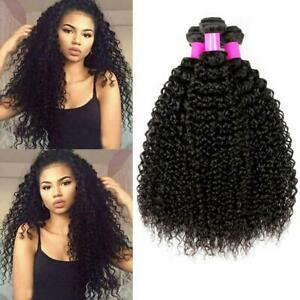 100% Unprocessed Virgin Human Hair Brazilian Kinky Curly Human Hair 3 Bundles 1B