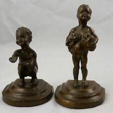 Pair of Antique McClelland Barclay Bronze Clad Armor Bronze Bookends