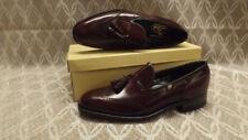Vtg Florsheim Imperial Tassel Wing Tip Loafers NOS sz 8 1/2 B Stuart Bordeaux