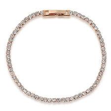 Rhinestone Rose Gold Plated Unbranded Costume Bracelets