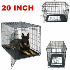 "Usa 20"" Pet Kennel Cat Dog Crate Animal Playpen Wire Metal Cage Indoor Outdoor"