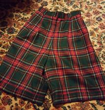 015 Womans Talbots Size 4 Plaid Gingham Shorts