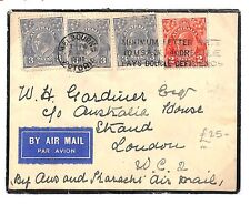 TT117 1931 Australia Melbourne Victoria to GB London Air Mail Cover PTS