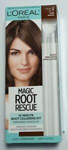 L'Oreal Magic Root Rescue 10 Minute Hair Coloring Kit Applicator Dark Brown