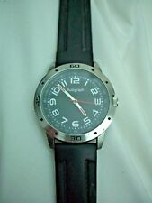Autograph M&S Mens/ Ladies black face,silicone strap watch,working new battery