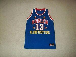 Rare Wilt Chamberlain sewn Harlem Globetrotters Blue #13 Basketball Jersey AU
