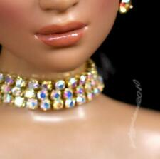 "Fashion zircon Necklace and Earring Jewelry Set for 22/"" Tonner Tyler doll 037C"