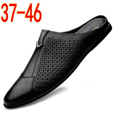 New Mens Pointed toe Hollow out Slip on Flats Loafers Casual Half Slippers Shoes
