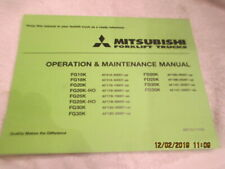 Mitsubshi Forklift Lift Trucks Operation Maintenance Factory Service Manual FG15