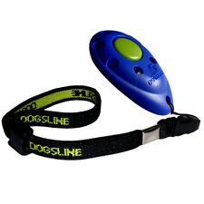 Dogsline Profi Clicker mit elastischer Handschlaufe , Klicker blau , DL04PA