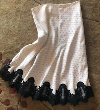 Bloomingdales Polka Dot Lace Lined Skirt Silk Lined Size 8