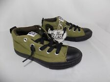 CONVERSE ALL STAR MID TOP SHOES NO TIME LACES YOUTH SIZE 3 ARMY GREEN NWT