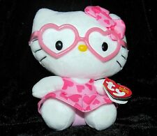 Ty Beanie Babies Collection Hello Kitty San Rio Sanrio Pink Hearts Glasses MWMT